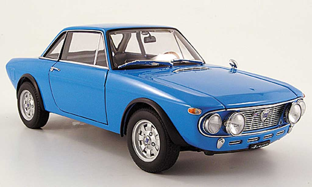 Lancia Fulvia 1/18 Autoart 1.6 hf fanalone bleu diecast