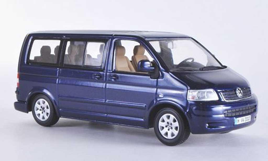 Volkswagen T5 1/43 Minichamps Multivan bleu 2003 diecast