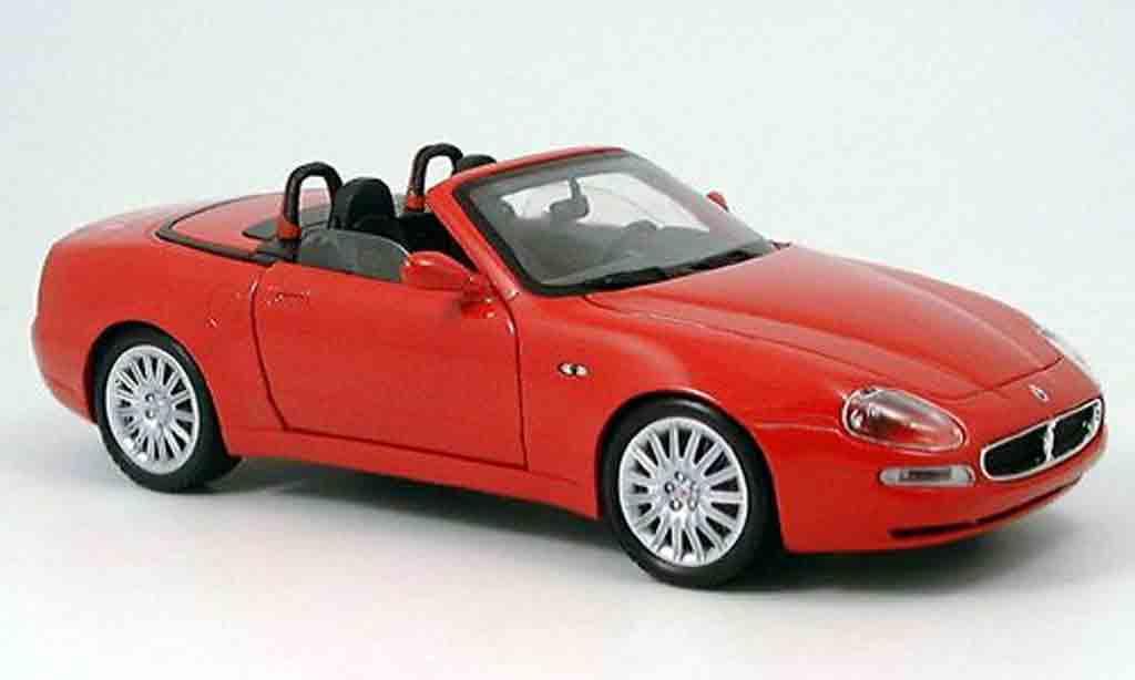 Maserati GT Spyder 1/18 Burago rouge 2003 miniature