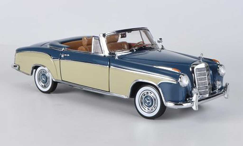 Mercedes 220 1/18 Sun Star SE Cabriolet bleu/beige 1958 miniature