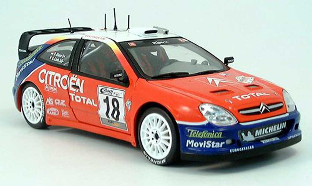 Citroen Xsara WRC 2003 1/43 Sun Star No.18 Total Rally Allemagne  S.Loeb/D.Elena miniature