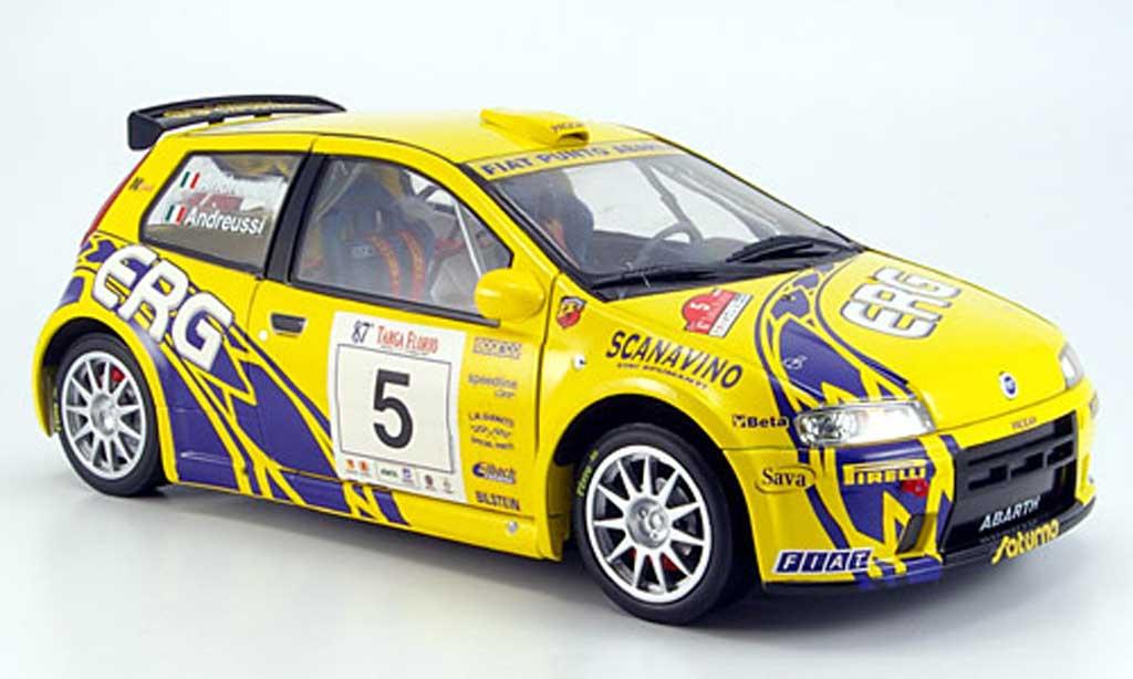 Fiat Punto 1/18 Ricko rallye no.5  erg targa florio 2003 andreucci  andreussi miniature