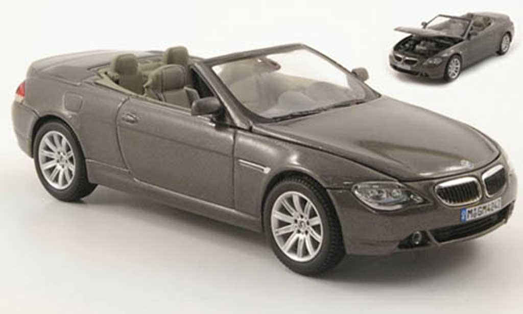 Bmw 630 E64 1/43 Kyosho Cabrio grun-grise 2004