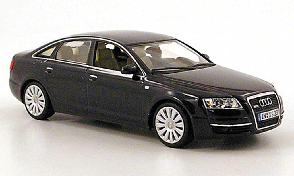Audi A6 1/43 Minichamps (C6) bleu 2004 miniature