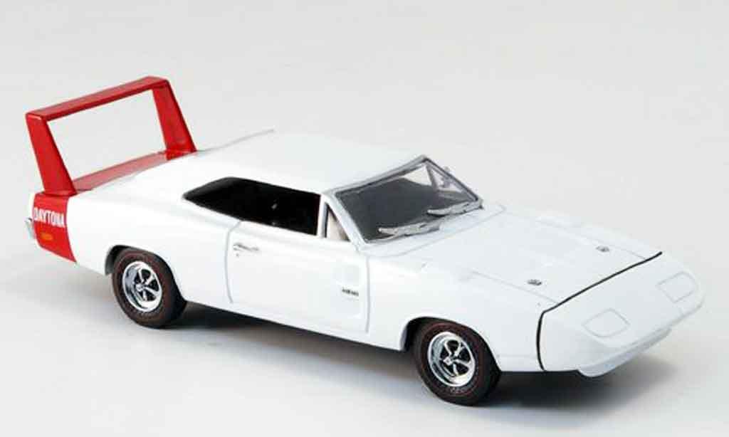 Dodge Charger 1969 1/43 Eagle Daytona blanche avec rougeem Heckspoiler miniature