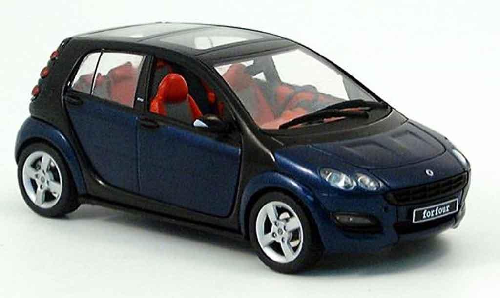 Smart Forfour 1/43 Schuco bleu noire 2004 miniature