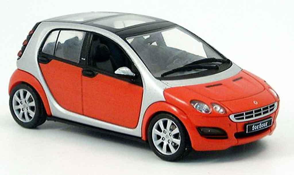 Smart Forfour 1/43 Schuco rouge grise 2004 miniature