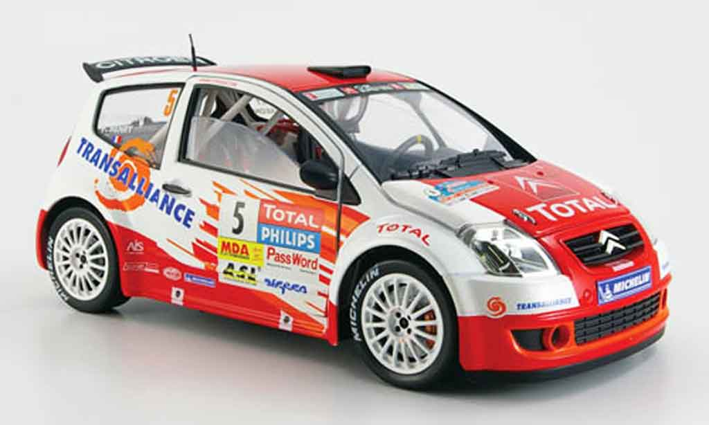 Citroen C2 S1600 1/18 Solido no.5 total jwrc 2004 diecast