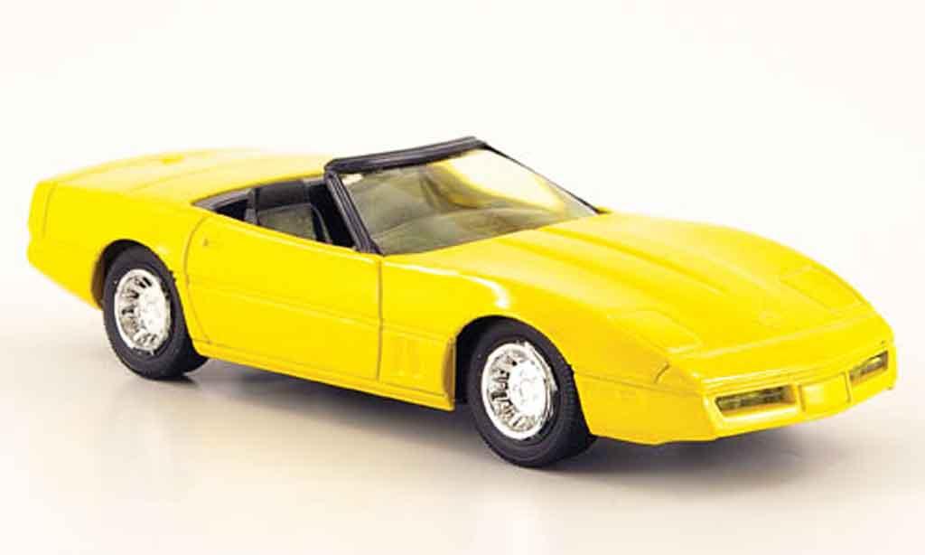 Chevrolet Corvette C4 1/43 Solido Cabriolet yellow 1984 diecast model cars