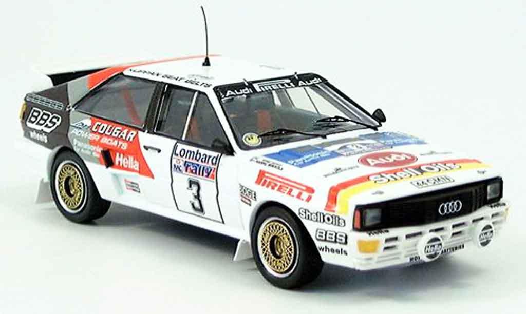 Audi Quattro 1/43 Trofeu No.3 Mikkola Hertz RAC Rally 1984 miniature