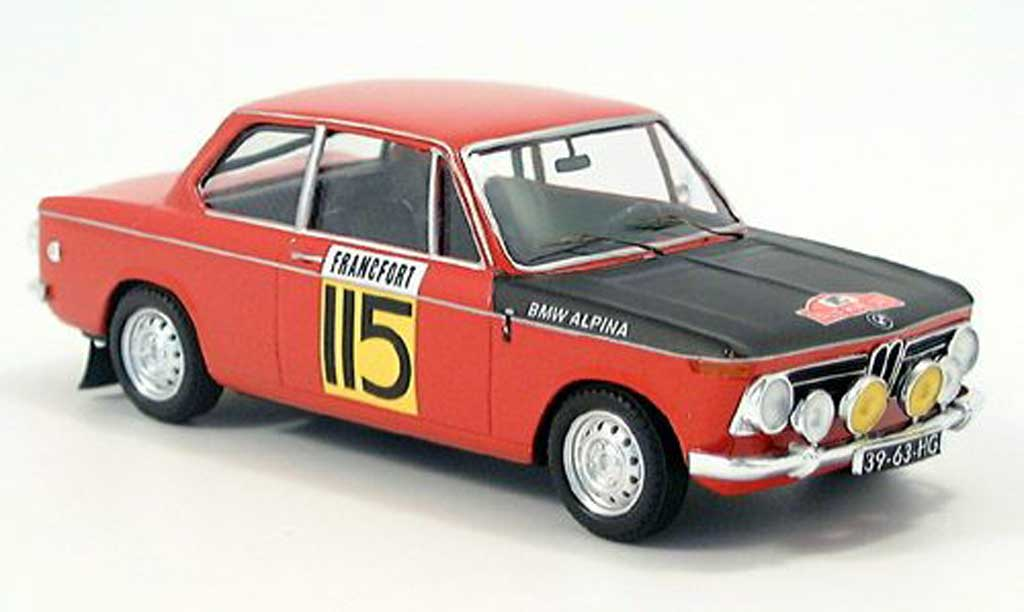 Bmw 2002 Ti 1/43 Trofeu Monte Carlo Slotemaker-Geest 1969 miniature