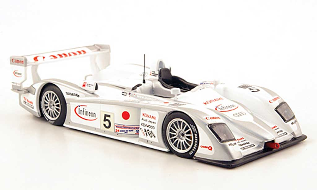 Audi R8 LMS 1/43 IXO No.5 Team Sport Japan 24h Le Mans 2003 miniature