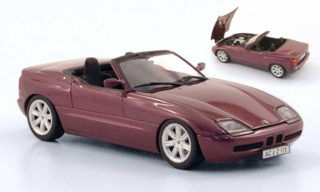 Bmw Z1 1/43 Minichamps lila 1991 miniature