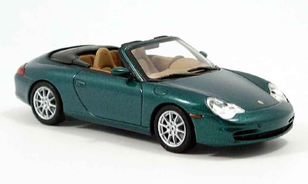 Porsche 996 Cabriolet 1/43 Minichamps green 2001 diecast