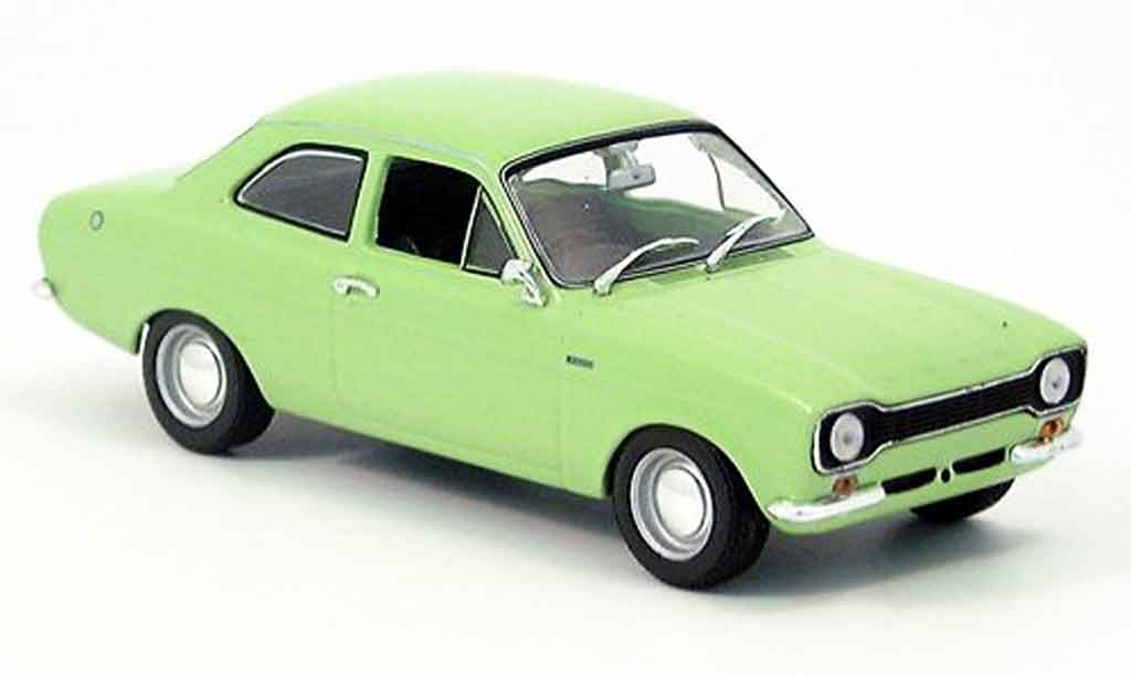 Ford Escort RS 1600 1/43 Minichamps verte 1971 MK1 miniature