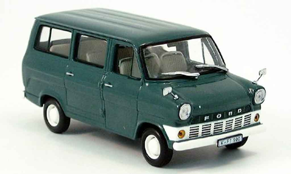 Ford Transit 1/43 Minichamps Bus greygrun 1965 diecast model cars