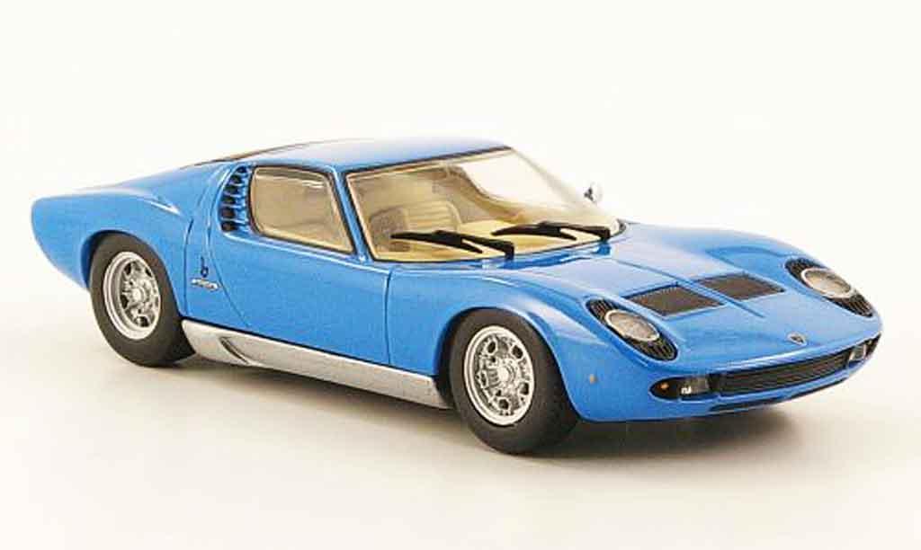 Lamborghini Miura 1/43 Minichamps bleu 1966 diecast