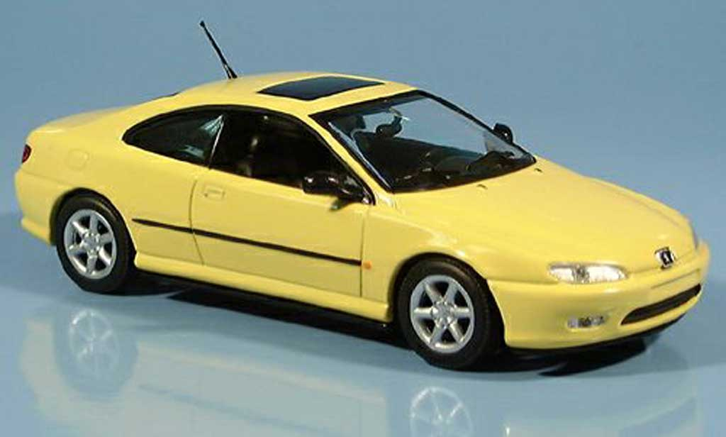 Peugeot 406 1/43 Minichamps Coupe yellow 1996 diecast