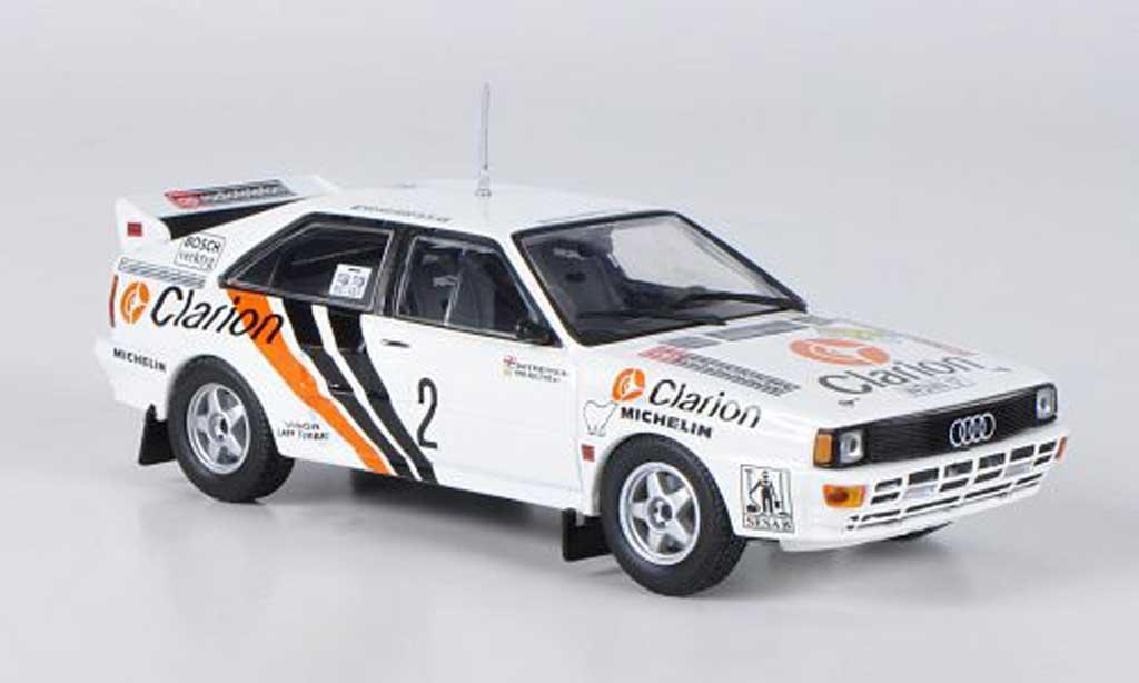 Audi Quattro 1/43 Minichamps No.2 Clarion Eklund/Whitlock Rally Schweden 1984 miniature