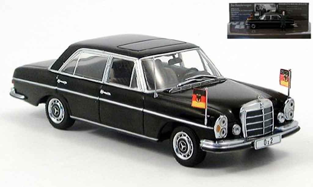 Mercedes 300 SEL 1/43 Minichamps SEL 6.3 (W109) Bundeskanzler Willy Brandt 1970 miniatura