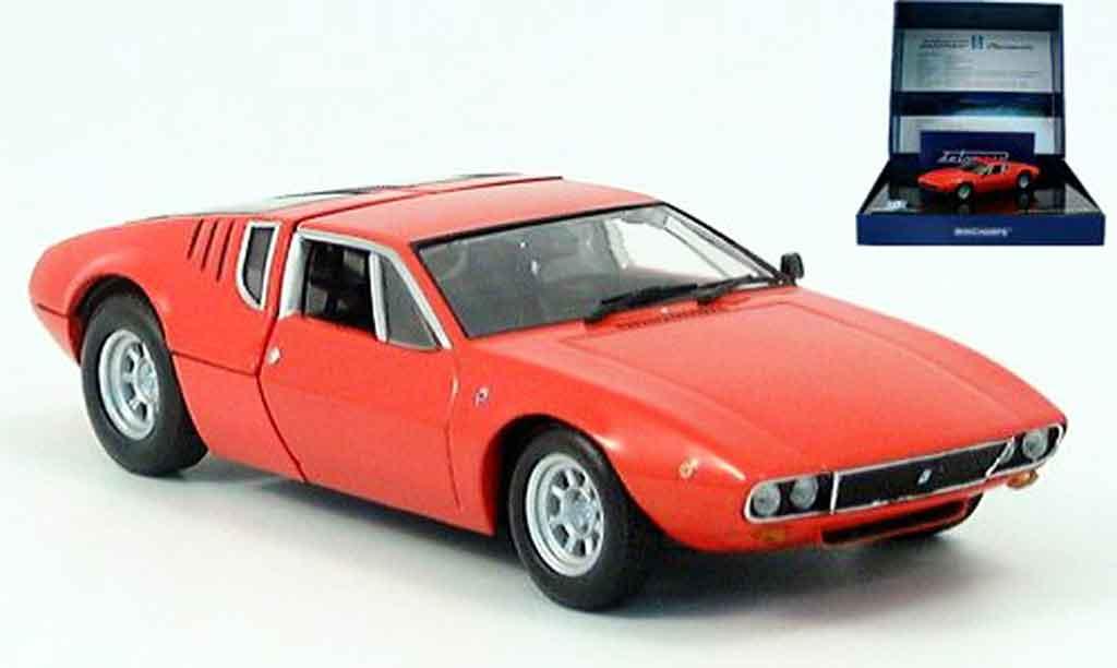 De Tomaso Mangusta 1/43 Minichamps rouge motorhaube zum offnen 1969