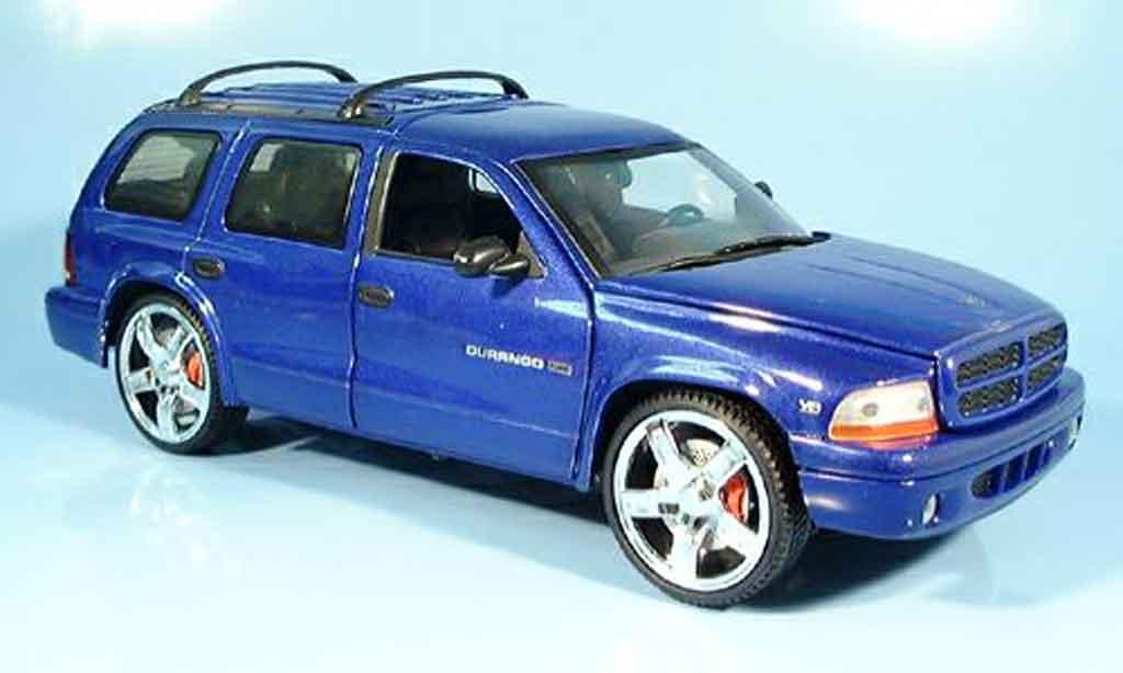 Dodge Durango 1/18 Ertl bleu miniature