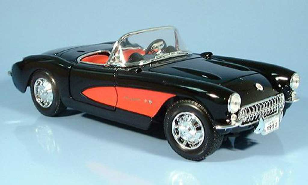Chevrolet Corvette C1 1/18 Yat Ming black 1957 diecast model cars