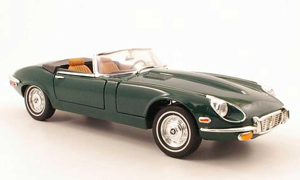 Jaguar E-Type 1971 1/18 Yat Ming 1971 grun coche miniatura
