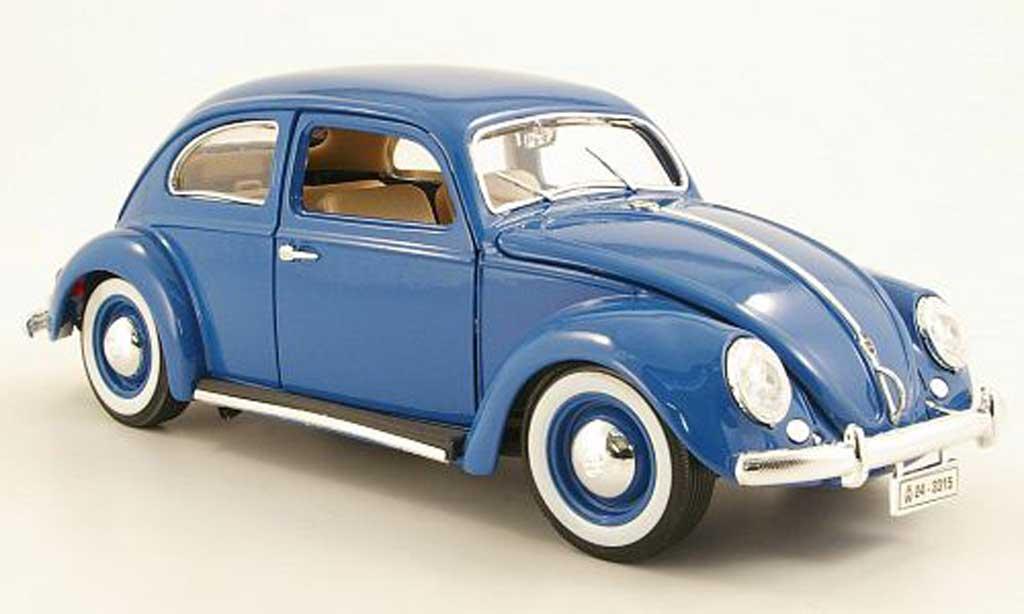 Volkswagen Kafer 1/18 Burago bleu 1955 miniature