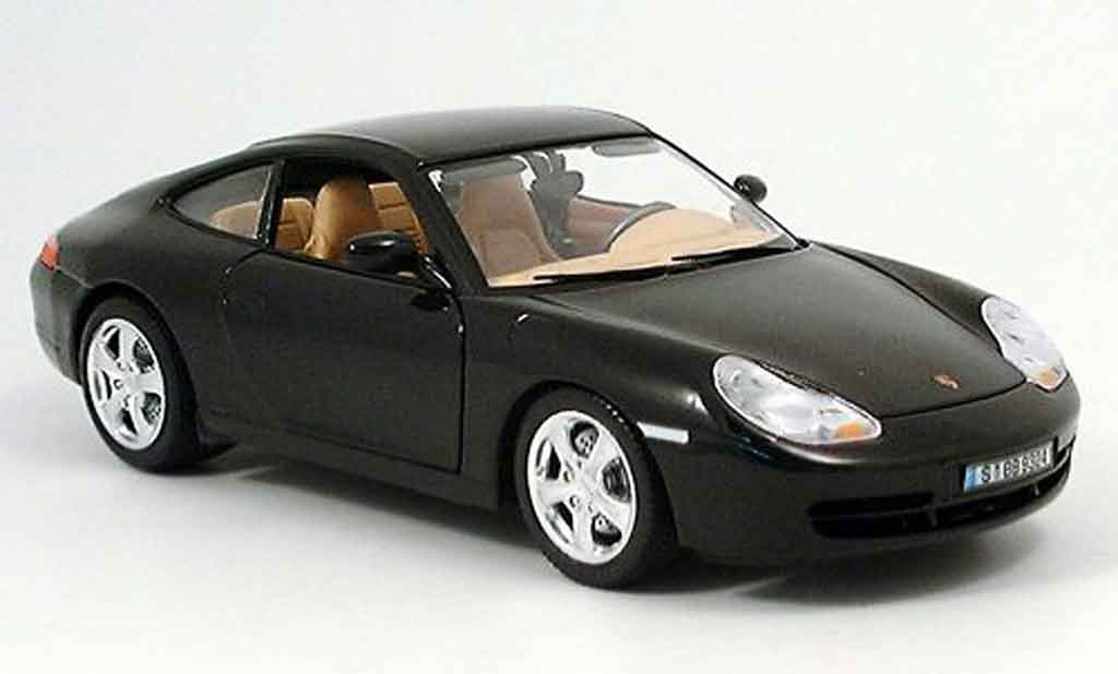 Porsche 996 Carrera 1/18 Burago 4 black diecast