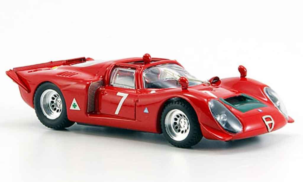 Alfa Romeo 33.2 1968 1/43 Best spyder no.7 facetti biscaldi mugello miniature