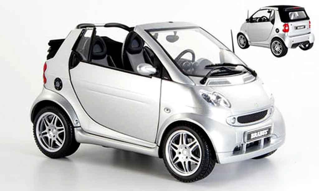 Smart ForTwo 1/18 Kyosho cabrio brabus grise 2003 miniature