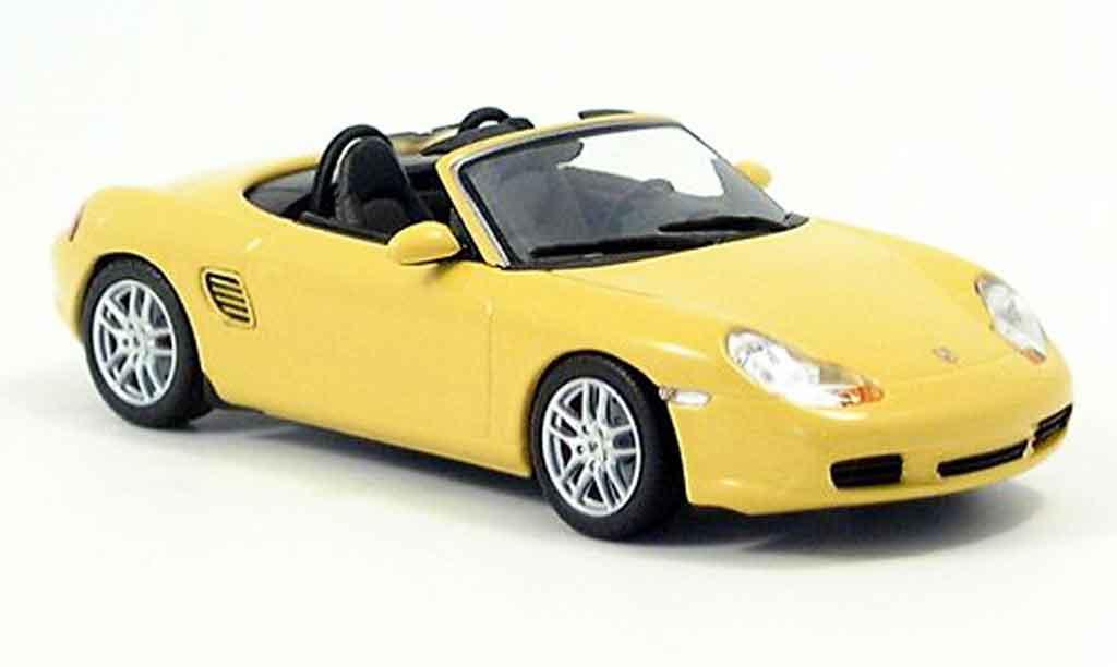 Porsche Boxster 1/43 Minichamps S jaune 2002 miniature