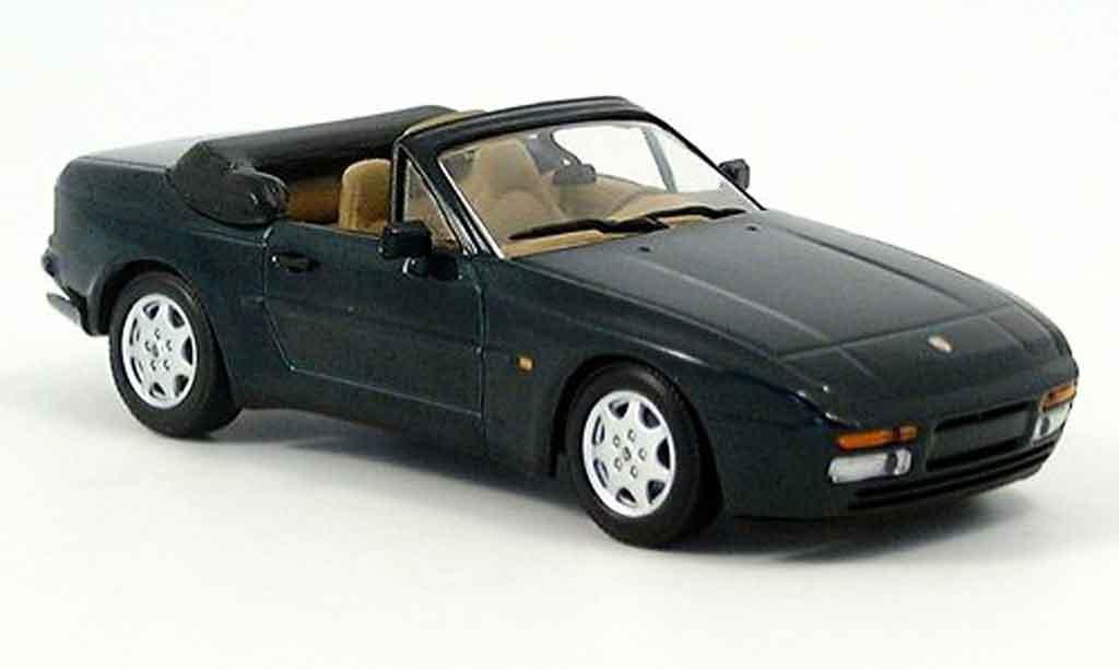 Porsche 944 1991 1/43 Minichamps Cabriolet grun diecast model cars