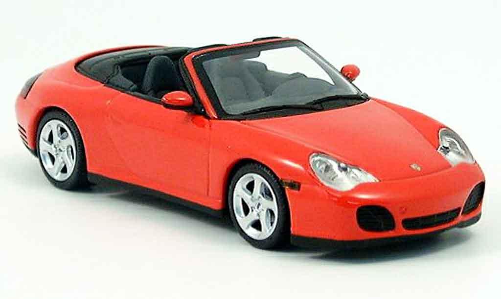 Porsche 996 Cabriolet 1/43 Minichamps 4S red 2003 diecast