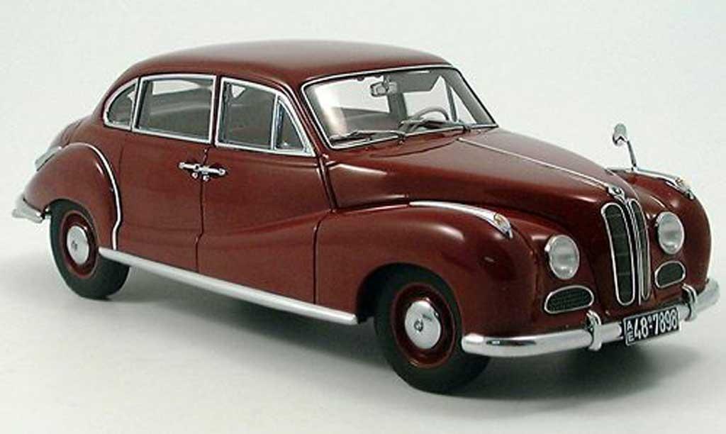 Bmw 501 1/18 Autoart limousine rouge miniature