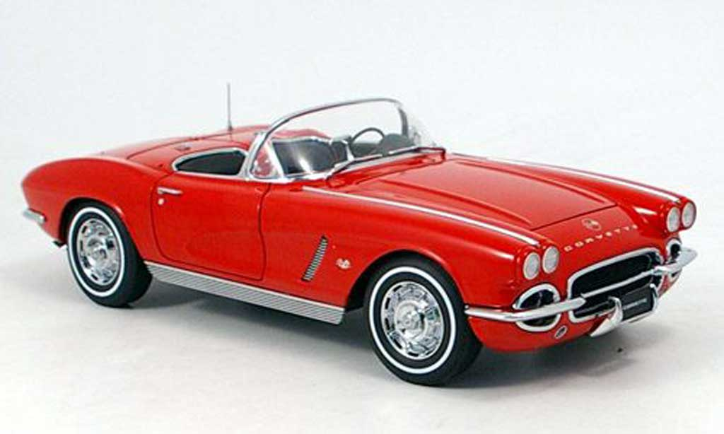 Chevrolet Corvette C1 1/18 Autoart red 1962 diecast model cars