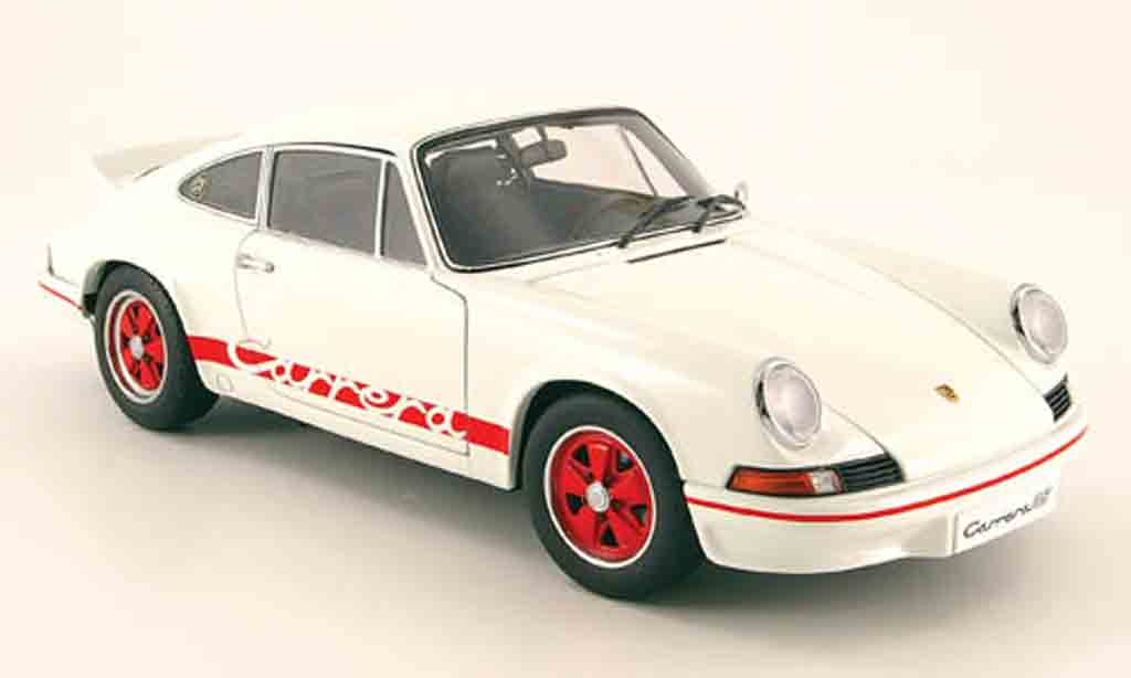 Porsche 911 RS 1/18 Autoart 2.7 carrera blanche/rouge 1973 miniature