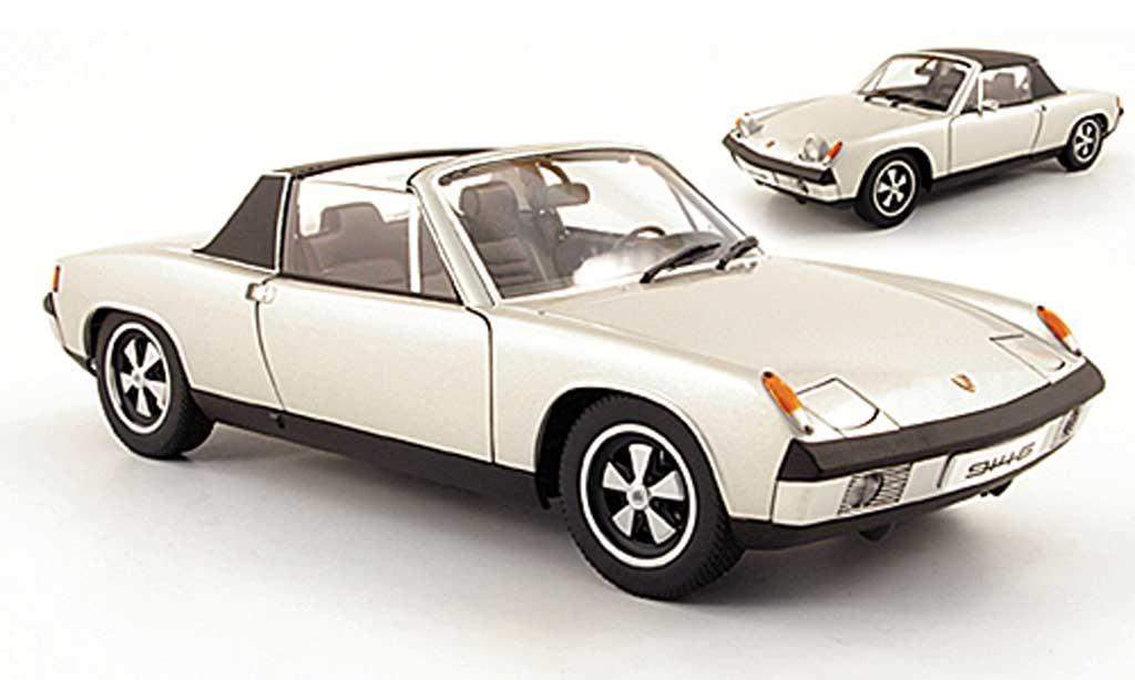 Porsche 914 1/18 Autoart 6 grise metallisee grise miniature
