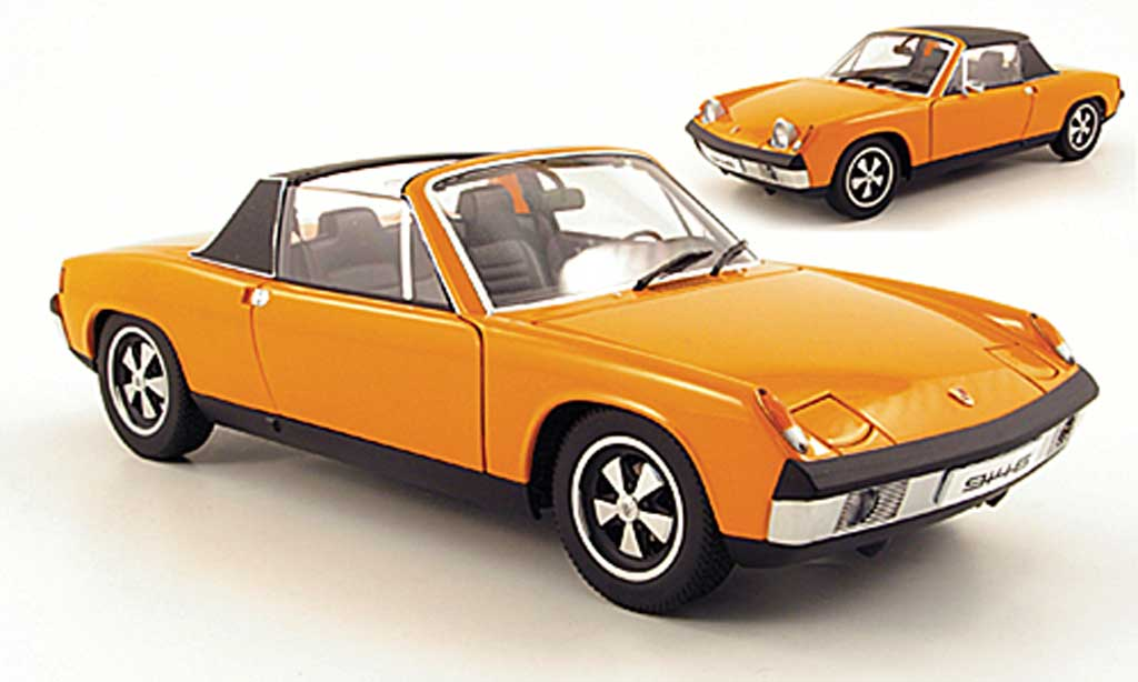 Porsche 914 1/18 Autoart 6 orange miniature