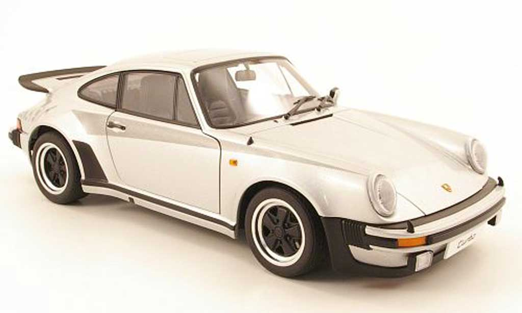 Porsche 911 Turbo 1/18 Autoart 3.0 grise allise miniature