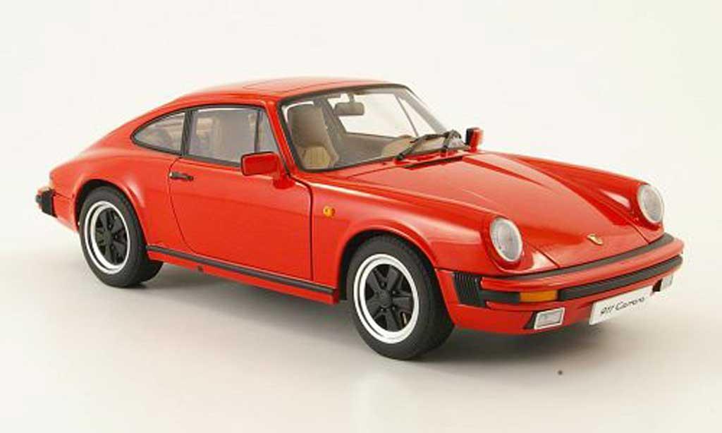 Porsche 930 3.2 1/18 Autoart carrera rouge 1988 miniature
