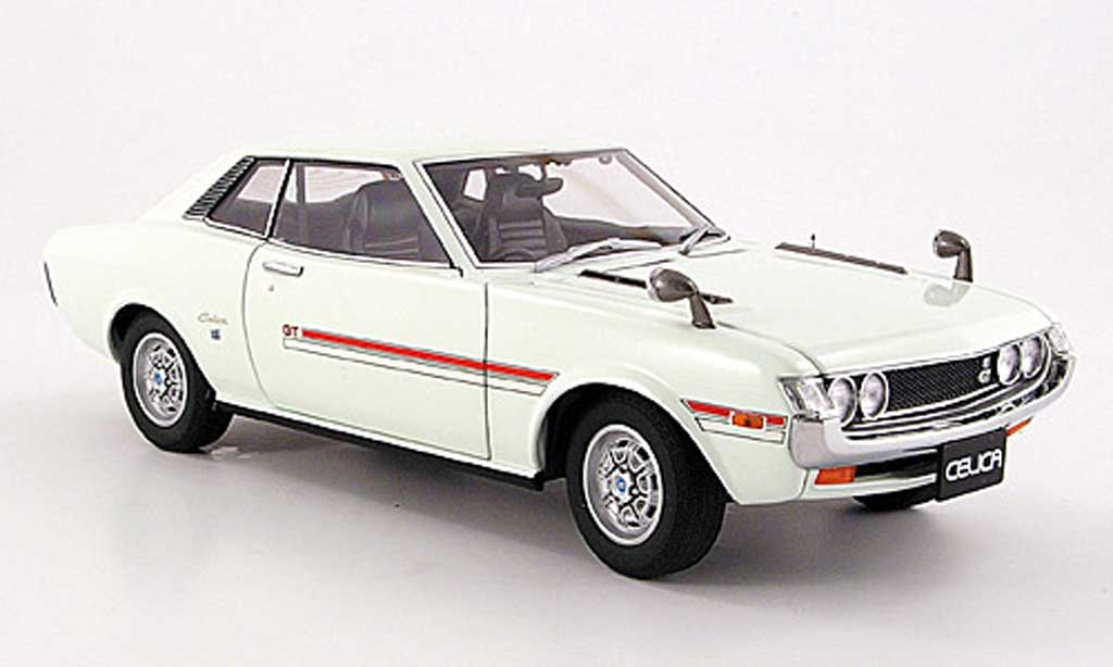 Toyota Celica 1600 GT 1/18 Autoart (ta 22) bianca 1970 miniatura