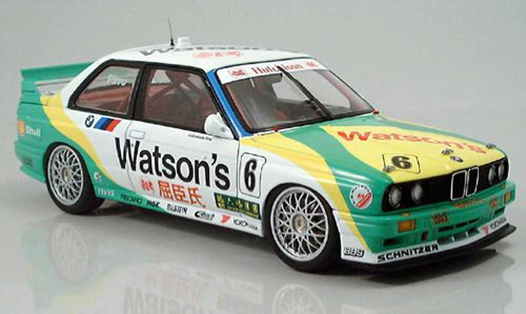 Bmw M3 E30 1/18 Autoart macau pirro no. 6 1991 diecast model cars