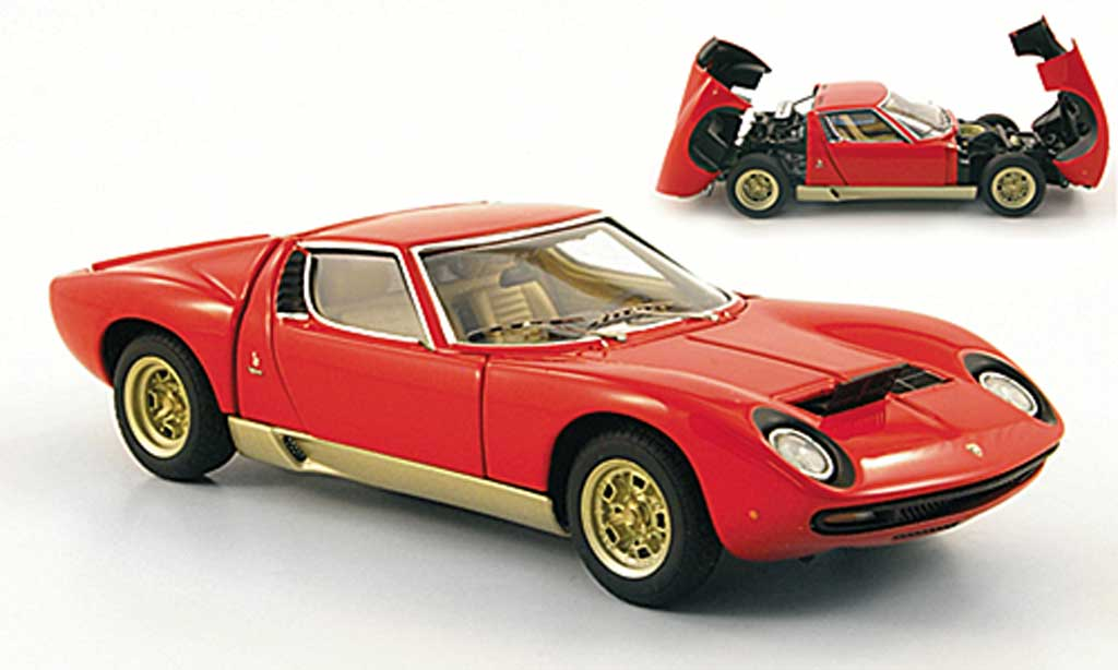 Lamborghini Miura SV 1/43 Autoart red/gold diecast model cars