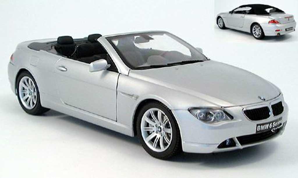 Bmw 645 E64 1/18 Kyosho ci cabriolet grise 2004 miniature