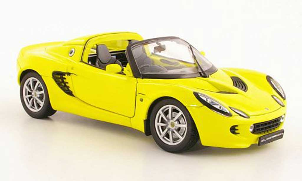 Lotus Elise 111S 1/18 Welly yellow RHD 2002 diecast model cars