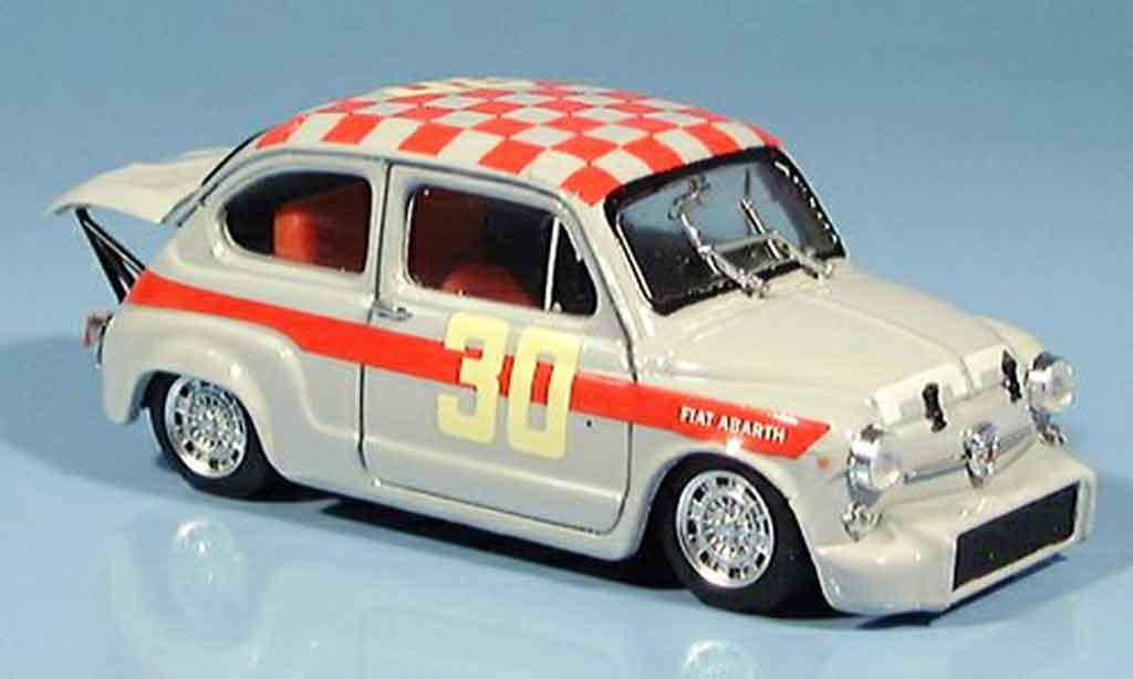 Fiat 600 1/43 Brumm Abarth 1000 No.30 Baghetti Sieger Monza 1966 miniature