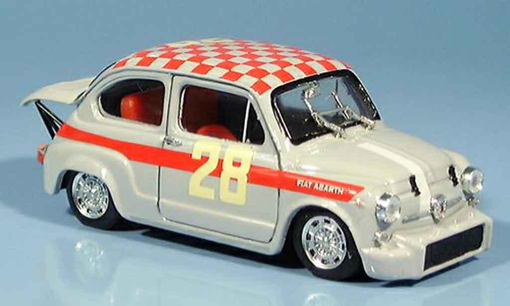 Fiat 600 1/43 Brumm Abarth 1000 No.28 Steinmetz Dritter Monza 1966 miniature