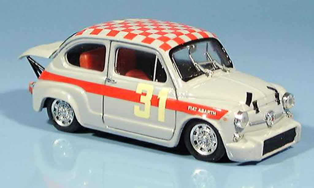 Fiat 600 1/43 Brumm Abarth 1000 No.31 Cella Monza 1966 miniature